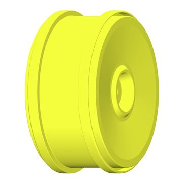 Image de 1:6 BU-BIG - WHEEL 132mm Y Yellow - Fixing with 18mm Square - 1 Pair