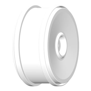 Afbeeldingen van 1:6 BU-BIG - WHEEL 132mm H White - Fixing with 18mm Square - 1 Pair