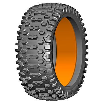 Bild von 1:6 BU-BIG - CROSS - P3 Medium - 180mm Donut Tyre with Insert - 1 Pair