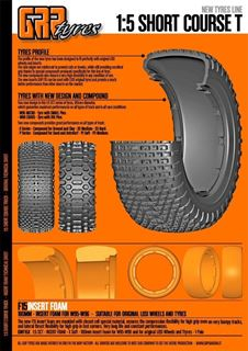 Image sur 1:5 SCT - Cross - P1 Soft - 180mm Donut Tyre NO Insert - 1 Pair