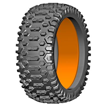 Bild von 1:6 BU-BIG - CROSS - S1 Hard - 180mm Donut Tyre with Insert - 1 Pair