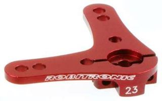 Picture of Aluminium Servo Double Arm 23T (90°) Red